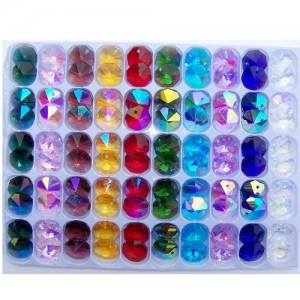 14mm octagons - mixed AB pack