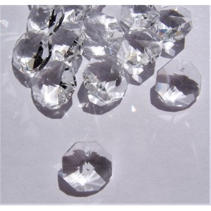 100x Agrade Clear 14mm 1h Octagons Bulk Pack