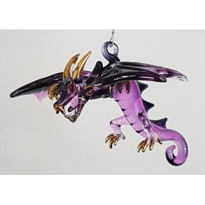 Large hanging dragon- purple