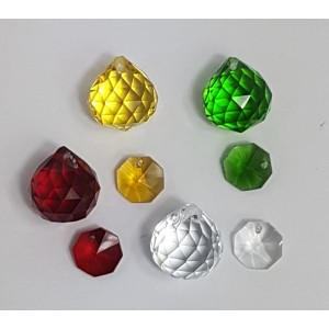 20mm crystal ball christmas pack- 120 pieces