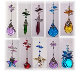 10 mixed charm suncatchers - BPSC003
