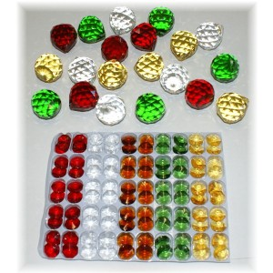 30mm Crystal sphere christmas pack- 120pcs.