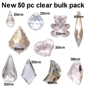 50 pc clear crystal bulk pack