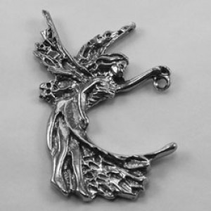 Pewter fairy charm #86
