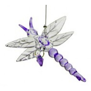 Hanging glass dragonfly