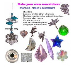 suncatcher kit- charm crystals- makes 6