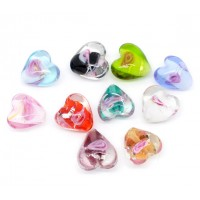 Love heart bead -Pack of 10