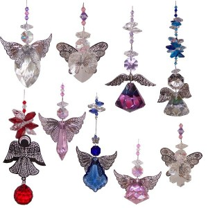 10 mixed angel suncatchers - BPASC002