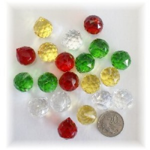 20mm crystal ball-christmas pack 20 pcs