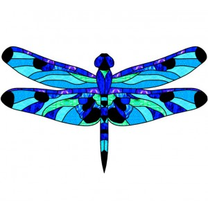 wing pack - leadlight dragonfly 1 blue