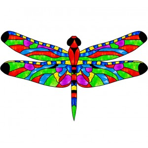 wing pack- leadlight dragonfly 1 multicolour